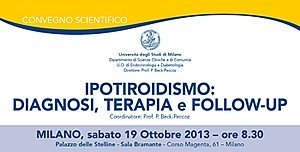 IPOTIROIDISMO: DIAGNOSI, TERAPIA e FOLLOW-UP