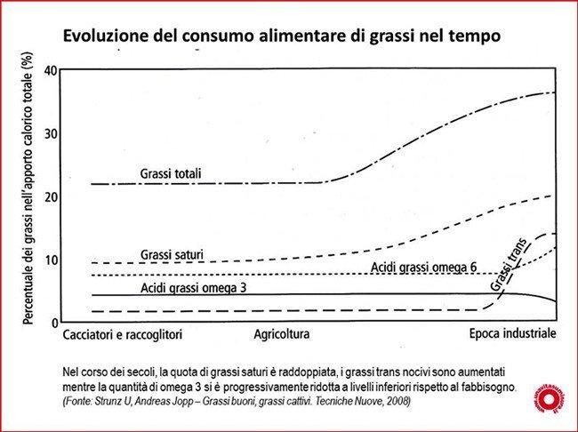 Evoluzione del consumo grassi nel tempo unavitasumisura
