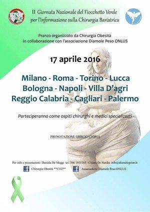 II Giornata Nazionale del Fiocchetto Verde per l'informazione sulla Chirurgia Bariatrica
