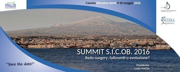 Catania, 9-10 maggio, SUMMIT S.I.C.OB. 2016