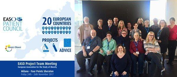 Obesità: a Milano riunito l'EASO Patient Council per discutere strategie comuni per combatterla