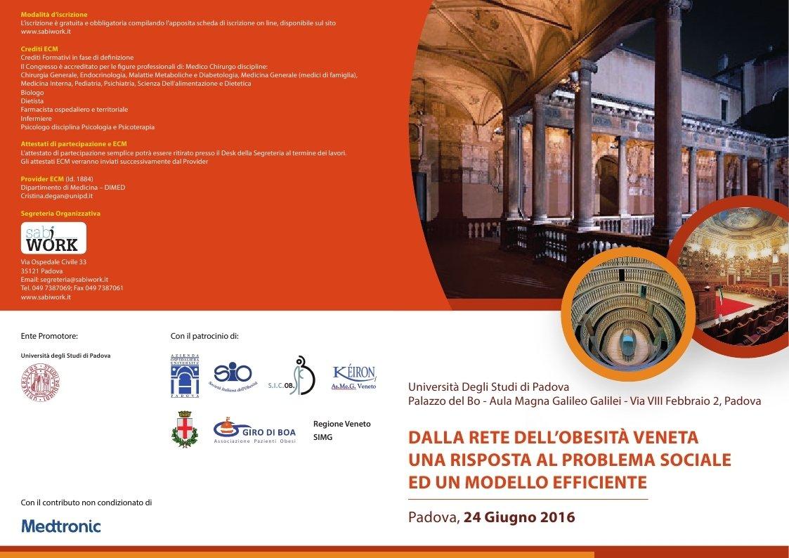 Cura dell'obesità: dal Veneto un efficiente modello multidisciplinare