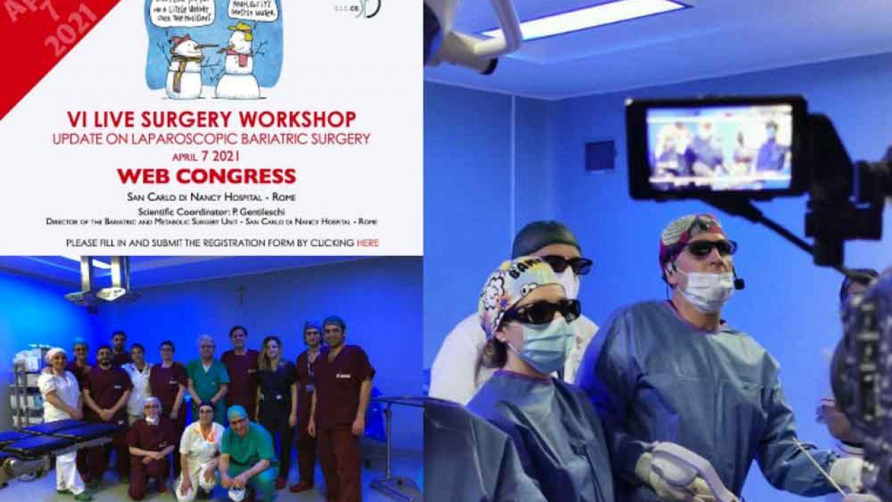 La bariatrica di Villa d'Agri tra i protagonisti del VI Live Surgery Workshop